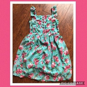 Beebay Teal and Pink Dragonfly Dress